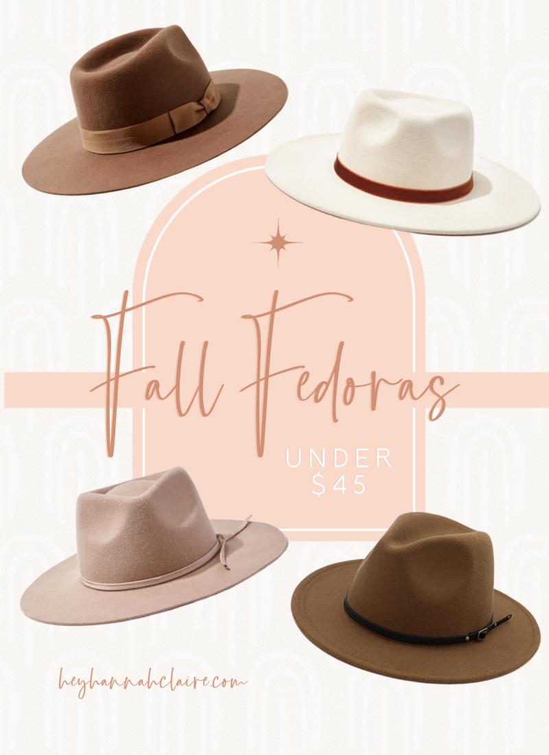Affordable and Trendy Fall Fedora Hats Under $45